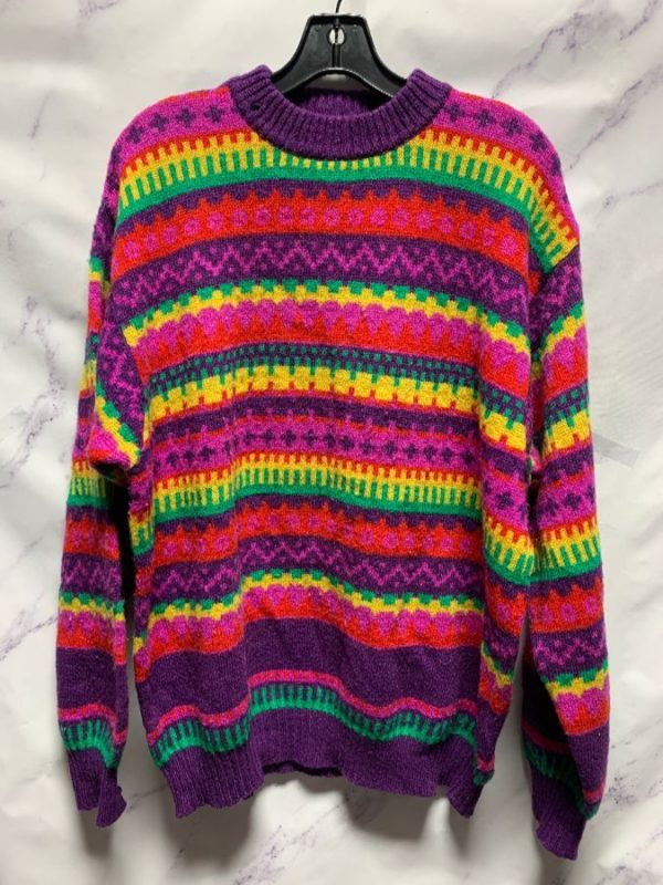 product details: AMAZING 1980S COLORFUL KNITTED WOOL SWEATER BY BENETTON AS-IS photo