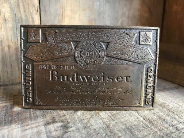 product details: BUDWEISER BELT BUCKLE photo