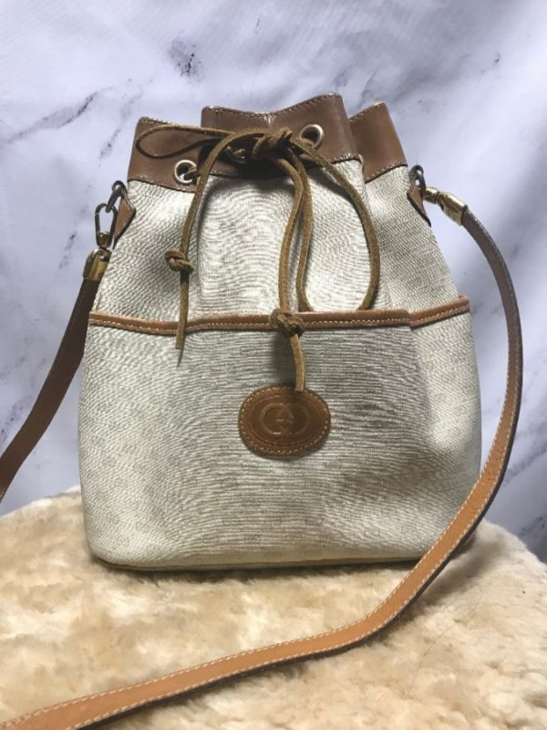 product details: FAUX GUCCI SIDE PURSE WITH LONG STRAP AS-IS photo