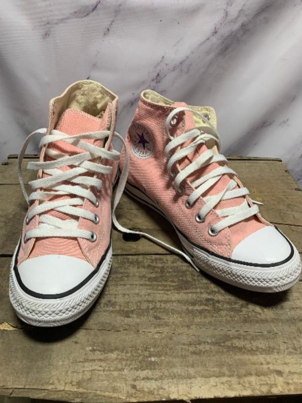 product details: PEACH HIGH TOP CONVERSES SNEAKERS AS-IS photo