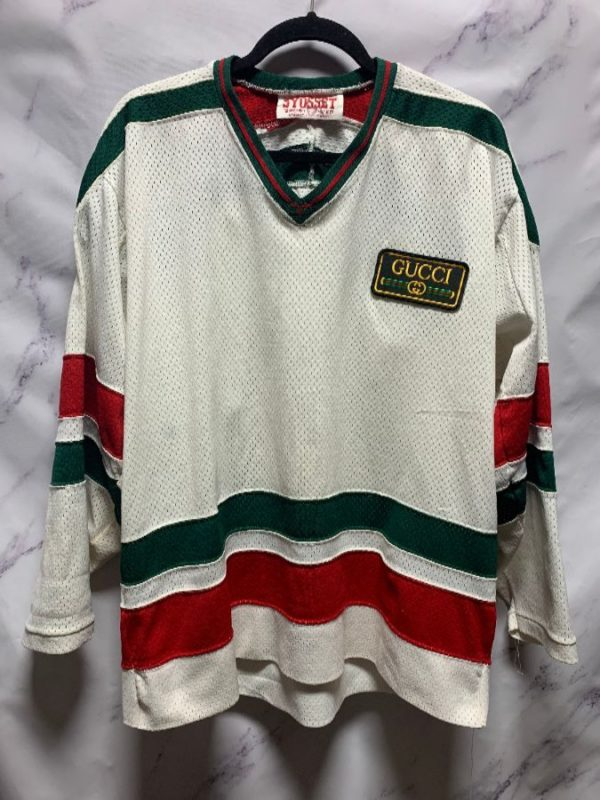 product details: VINTAGE NORCON HOCKEY JERSEY GUCCI COLOR WAY AND PATCH AS-IS photo