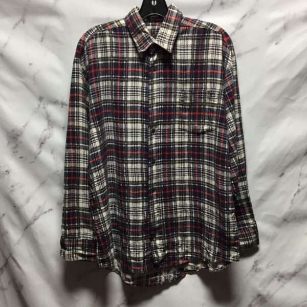 product details: 1960S COTTON LONG SLEEVE FLANNEL SHIRT - AS IS photo