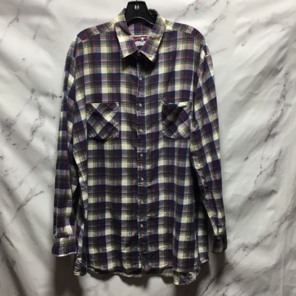 product details: ALL AMERICAN LONG SLEEVE FLANNEL SHIRT TALL photo