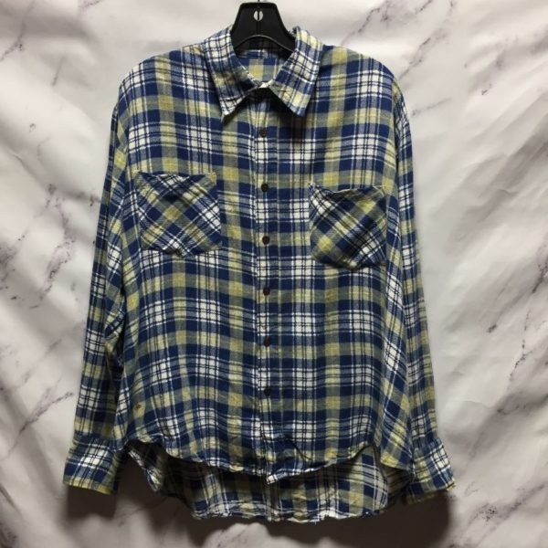 product details: FULLY COTTON LONG SLEEVE PLAID PRINT FLANNEL SHIRT photo