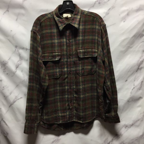 product details: WOOL BLEND LONG SLEEVE FLANNEL SHIRT - AS IS photo