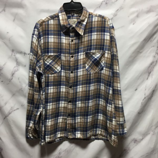 product details: PRESHRUNK FULLY COTTON LONG SLEEVE FLANNEL SHIRT photo