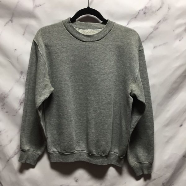 product details: CLASSIC HEATHER GREY PLAIN THIN SWEATSHIRT - AS IS photo