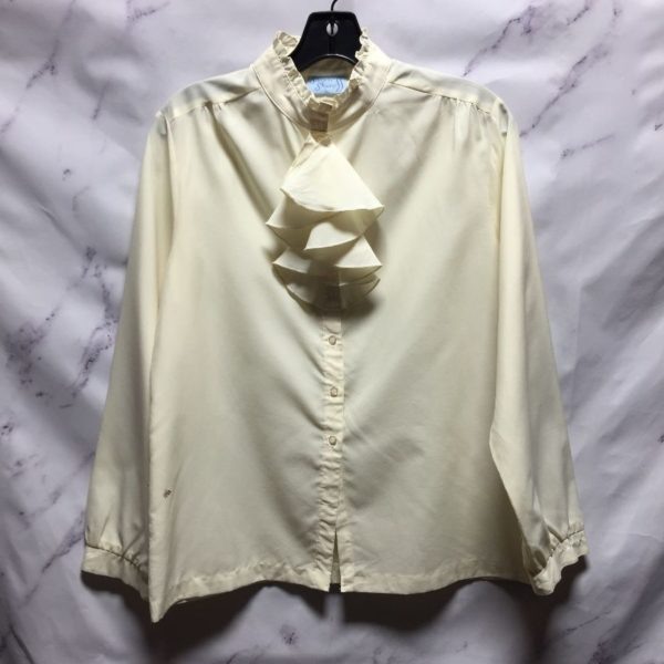 product details: VICTORIAN WHITE RUFFLE BLOUSE - AS IS photo