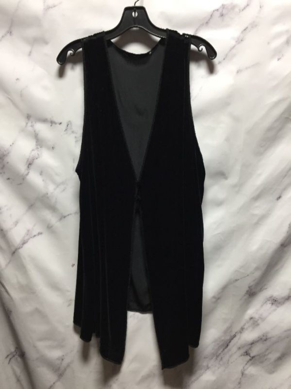 product details: LONG VELVET VEST - AS IS photo