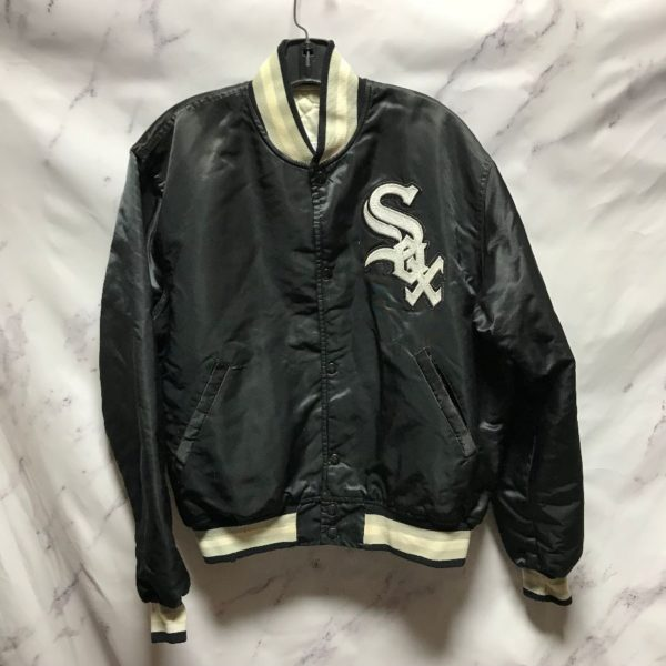 product details: MLB CHICAGO WHITE SOX SATIN BUTTON UP JACKET photo