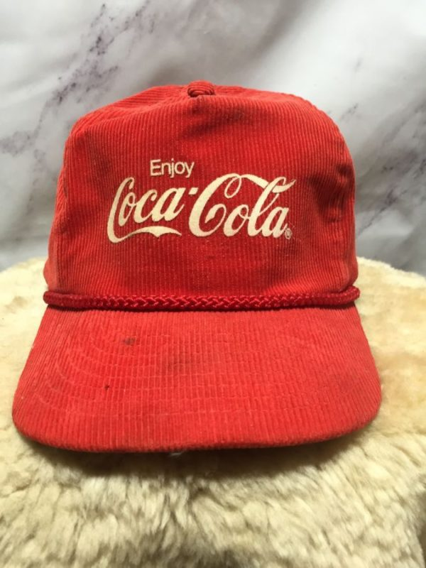product details: CLASSIC COCA COLA CORDUROY HAT - AS IS photo