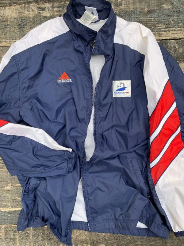 product details: FRANCE 98 WORLD CUP ENGLAND FULLY LINED WINDBREAKER JACKET photo
