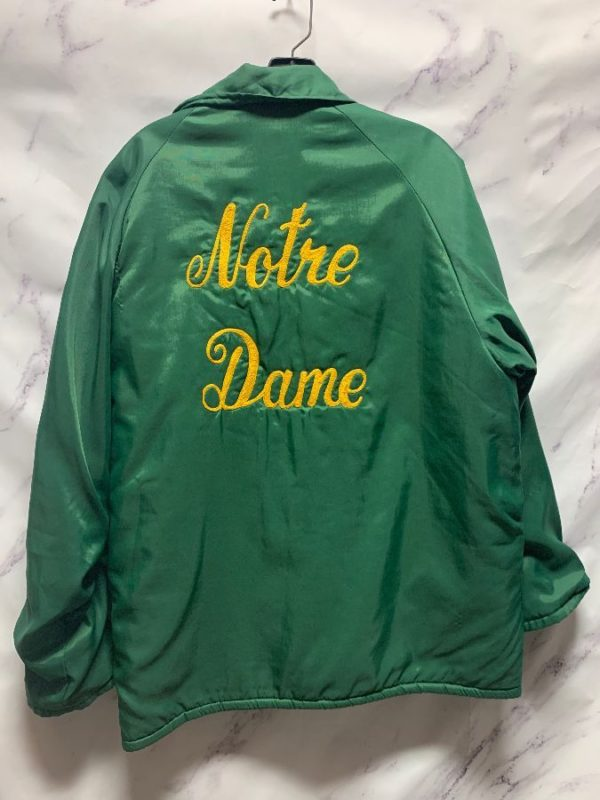 product details: RETRO 1970S SHERPA LINED NOTRE DAME CHAIN STITCHED SNAP BUTTON JACKET photo