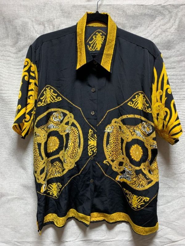 product details: AMAZING ORNATE BAROQUE STYLE TIGER PRINT BLOUSE photo
