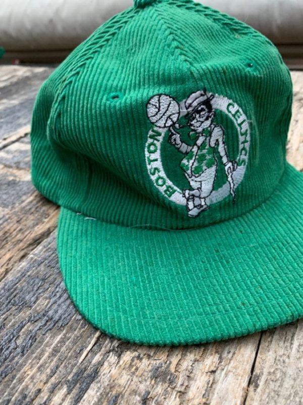 product details: NBA BOSTON CELTICS CORDUROY SNAPBACK HAT AS-IS photo