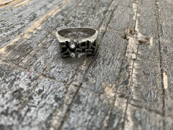 product details: FUCK OFF LETTERING RING - ASSORTED SIZE photo