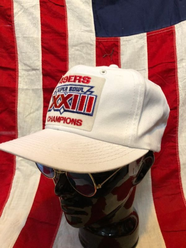 product details: VINTAGE EMBROIDERED SNAP BACK HAT SF 49ERS SUPER BOWL XXIII CHAMPS photo