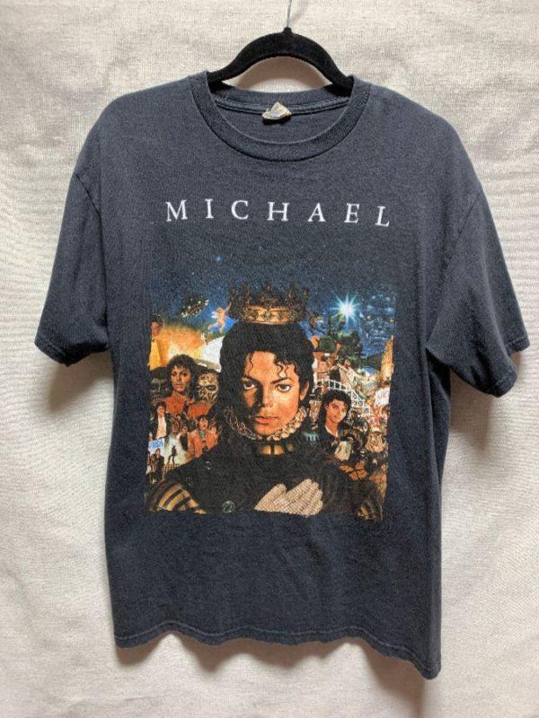 product details: MICHAEL JACKSON KING OF POP ALBUM COVERS T SHIRT photo