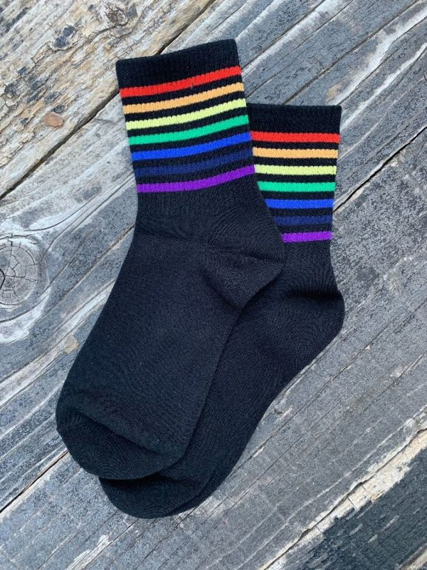 product details: ANKLE SOCKS - RAINBOW STRIPES photo