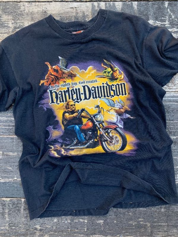 product details: HARLEY DAVIDSON ON THE EIGHTH DAY GOD CREATED... TSHIRT | SUBURBAN MOTORS THIENSVILLE, WI photo