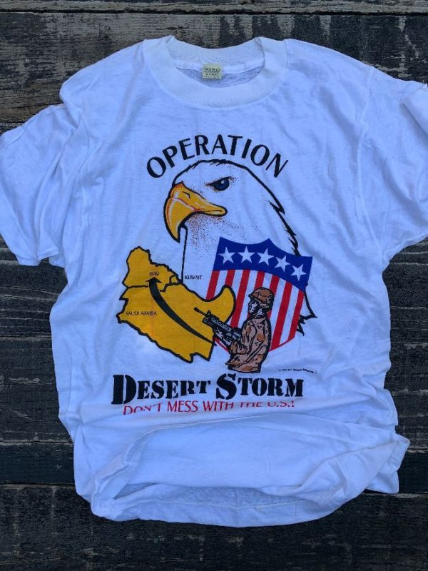 product details: 1991 DEADSTOCK OPERATION DESERT STORM GRAPHIC T-SHIRT photo