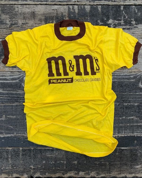 product details: 1970S-80S PEANUT M&M\S RINGER TEE T-SHIRT SMALL FIT photo