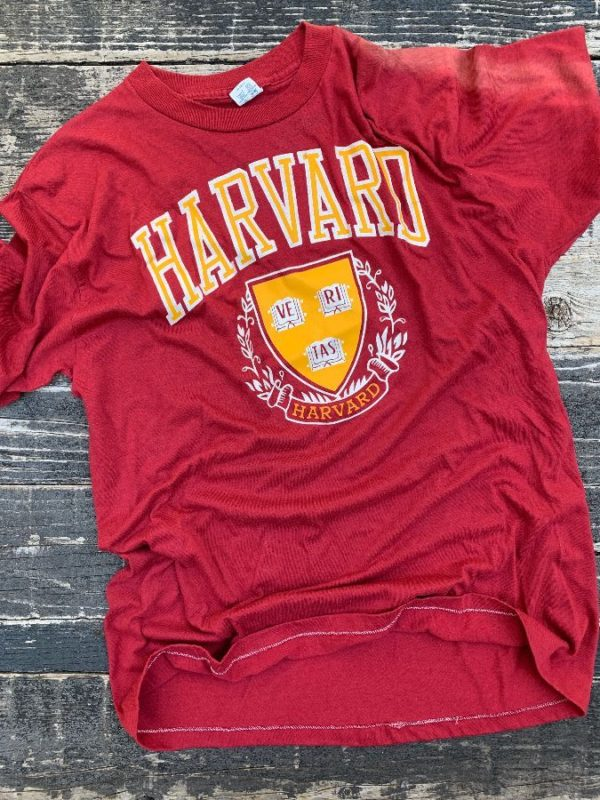 product details: HARVARD UNIVERSITY SINGLE STITCH T-SHIRT AS-IS photo