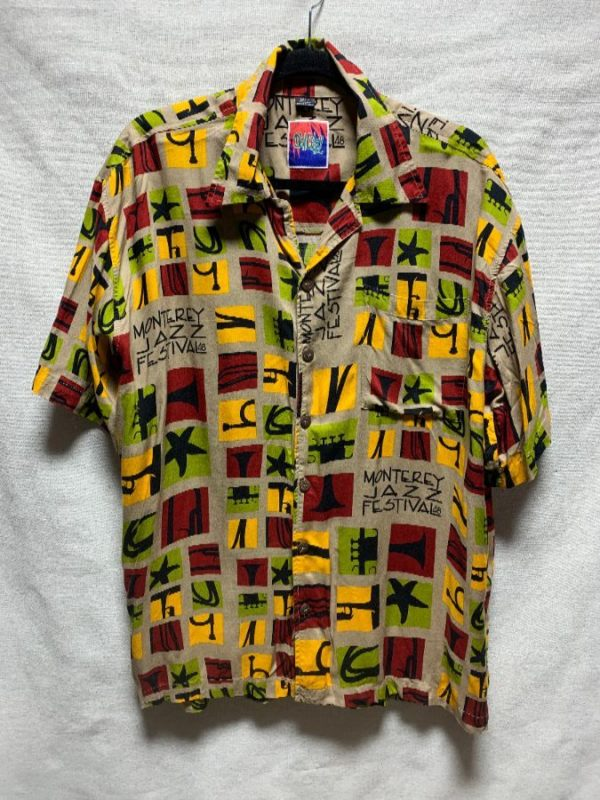 product details: 1990S MONTEREY JAZZ FEST 48 ALL OVER PRINT SHIRT photo
