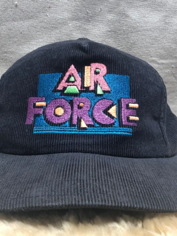 product details: EMBROIDERED AIR FORCE CORDUROY HAT PASTEL COLORS photo