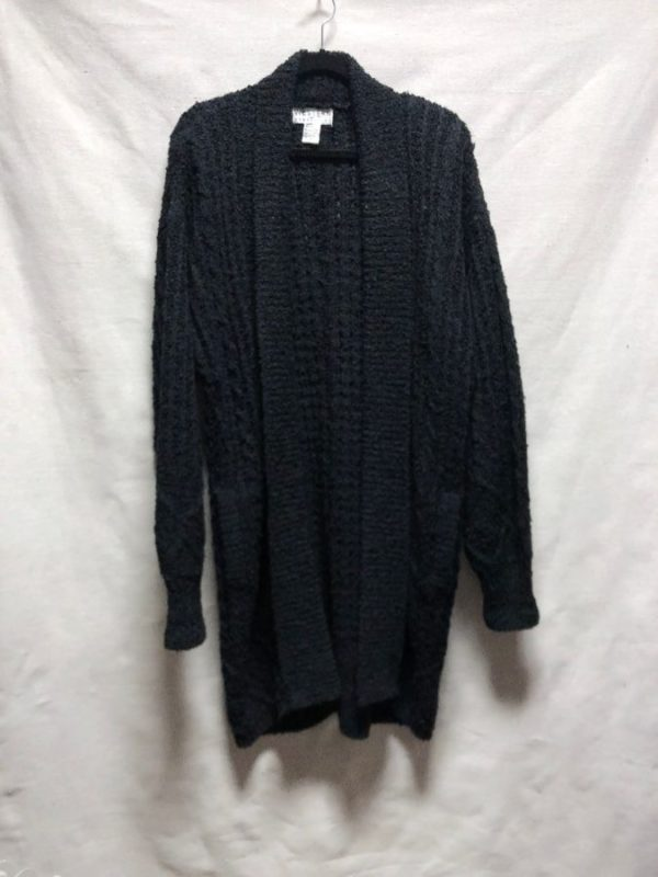 product details: 1980S DEADSTOCK LONG HEAVY KNIT CARDIGAN SWEATER WITH ORIGINAL TAGS NWT photo