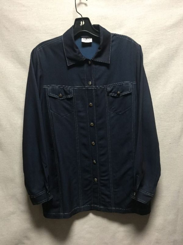 product details: RETRO 1990S SHIRT WITH CONTRAST STITCHING STRETCH MATERIAL photo