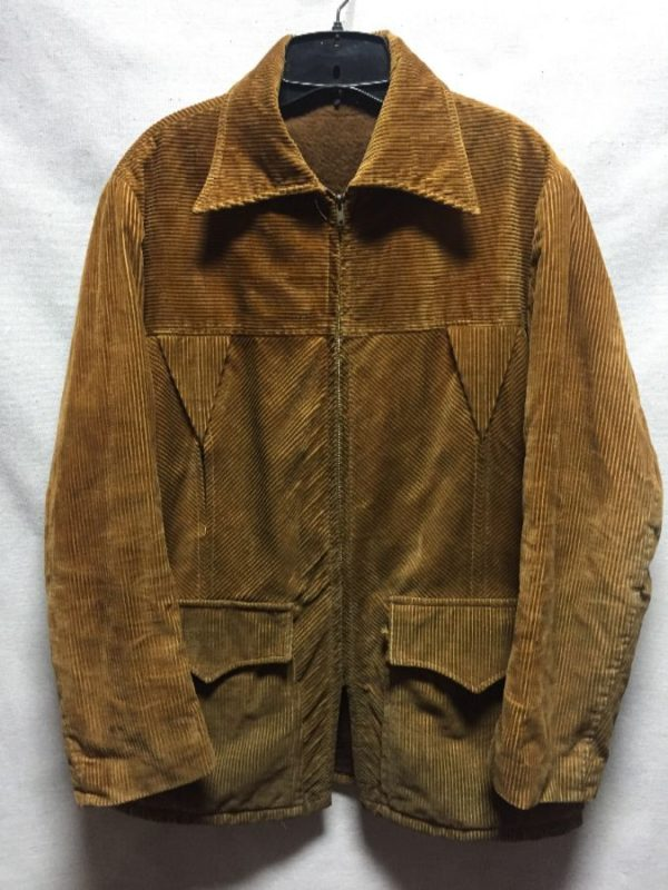 product details: 1960S-70S CORDUROY JACKET WITH SHERPA LINING AS-IS photo