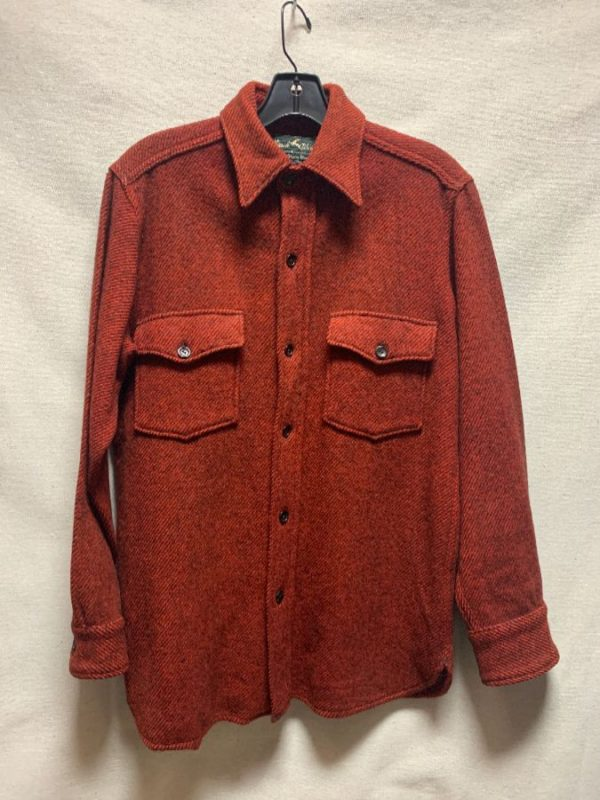 product details: VINTAGE 1970S THICK WOOL HERRINGBONE PATTERN JACKET / FLANNEL SHIRT AS-IS photo