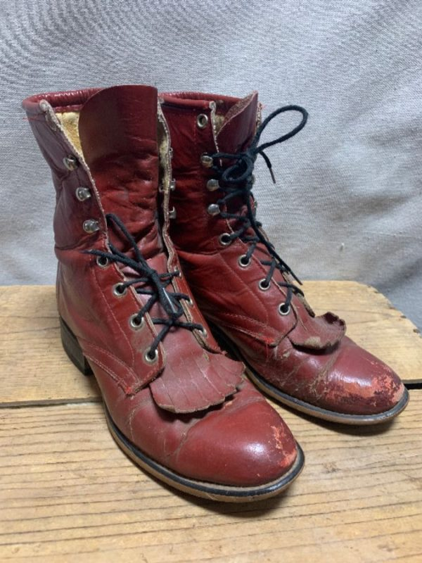 product details: LACE UP ROPER BOOTS AS IS photo