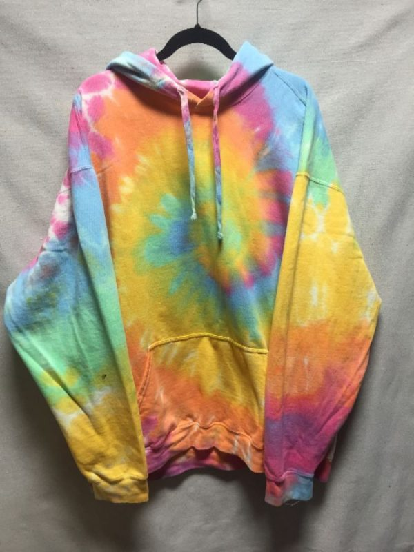 product details: SUPER COZY OVERSIZED PASTEL TIE DYE PULL OVER HOODIE | HOODED SWEATSHIRT  *LOCALLY MADE photo