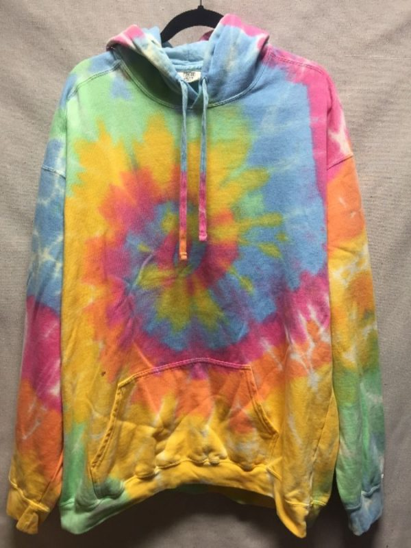 product details: SUPER COZY TIE DYE PULL OVER HOODIE photo