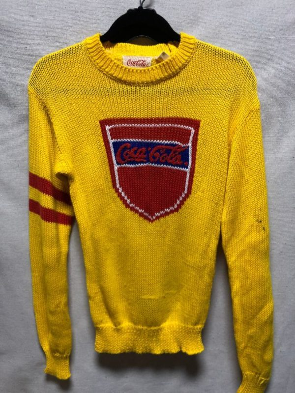 product details: RETRO KNIT COCA-COLA SHIELD SWEATER AS-IS photo