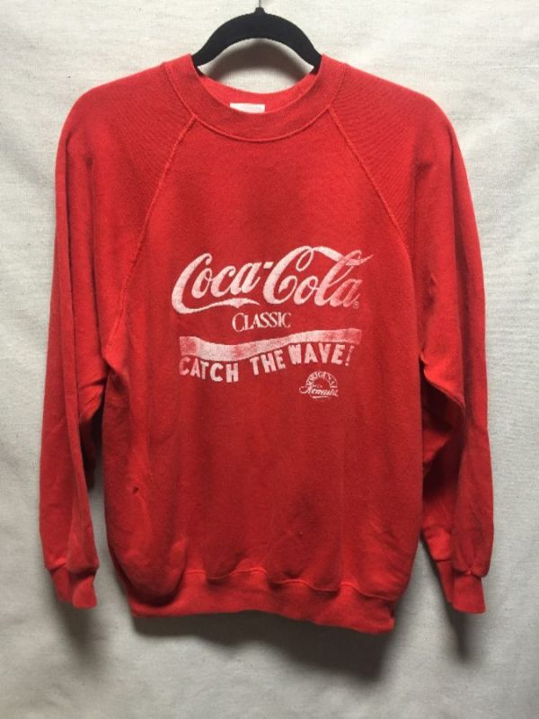 product details: COCA-COLA CLASSIC CATCH THE WAVE PULLOVER SWEATSHIRT photo