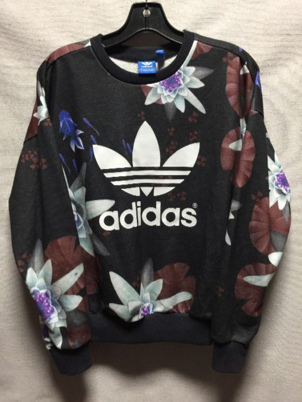 product details: ADIDAS FLORAL PULLOVER SWEATSHIRT photo