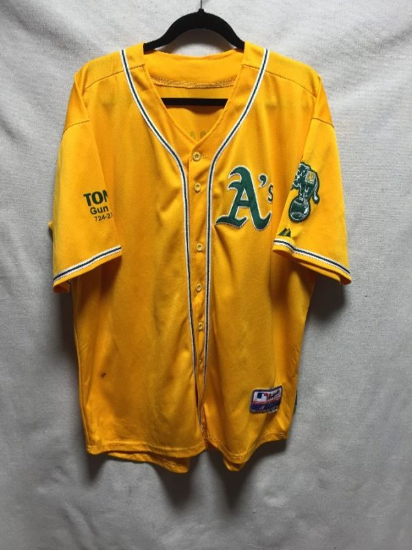 product details: OAKLAND A S AUTHENTIC COLLECTION BASEBALL JERSEY *ANTHONY\S COMPUTERS* photo