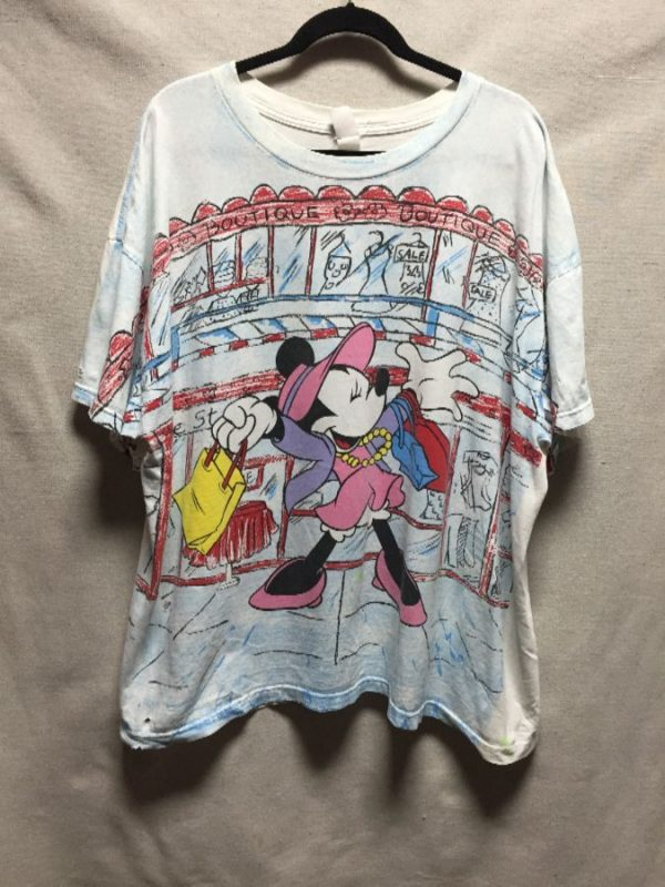 product details: RETRO MINNIE MOUSE SHOPPING ALL OVER PRINT OVERSIZED BOXY T-SHIRT photo