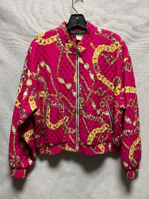 product details: QUILTED BAROQUE CHAIN PATTERN ZIPUP JACKET AS-IS photo