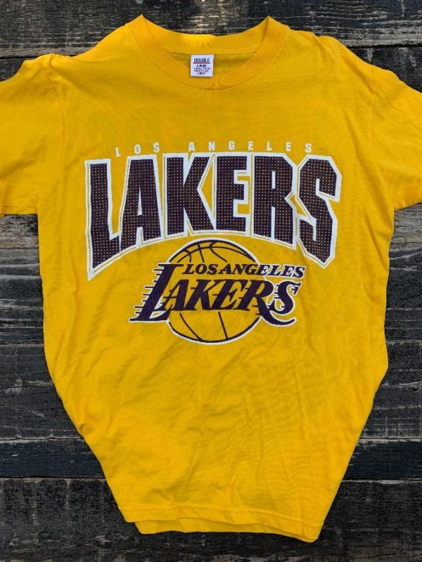 product details: VINTAGE LOS ANGELES LAKERS TSHIRT SHOW TIME #8 #41 #34 #45 #2 photo