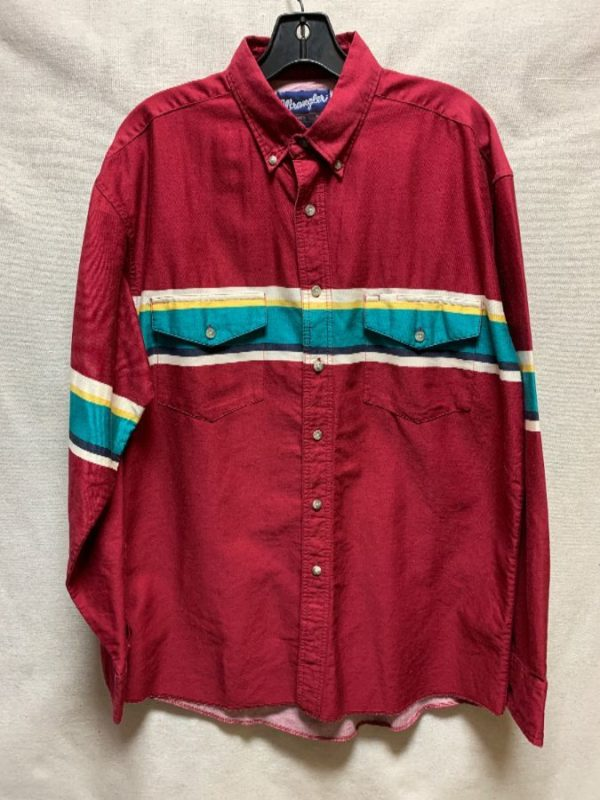 product details: CLASSIC WESTERN STRIPED WRANGLER SHIRT photo