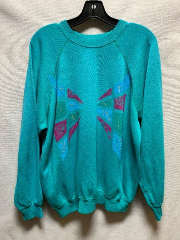 product details: PULLOVER CREWNECK SWEATSHIRT ABSTRACT 80S DESIGN photo
