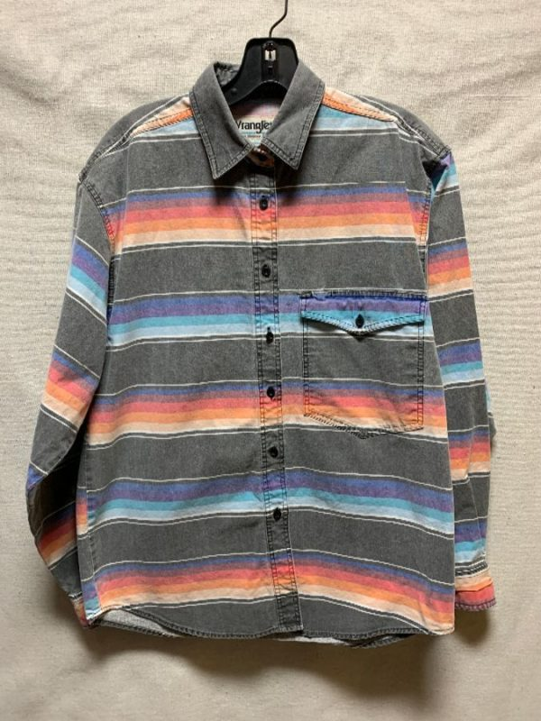 product details: WESTERN STRIPED FADED SERAPE DESIGN SHIRT photo