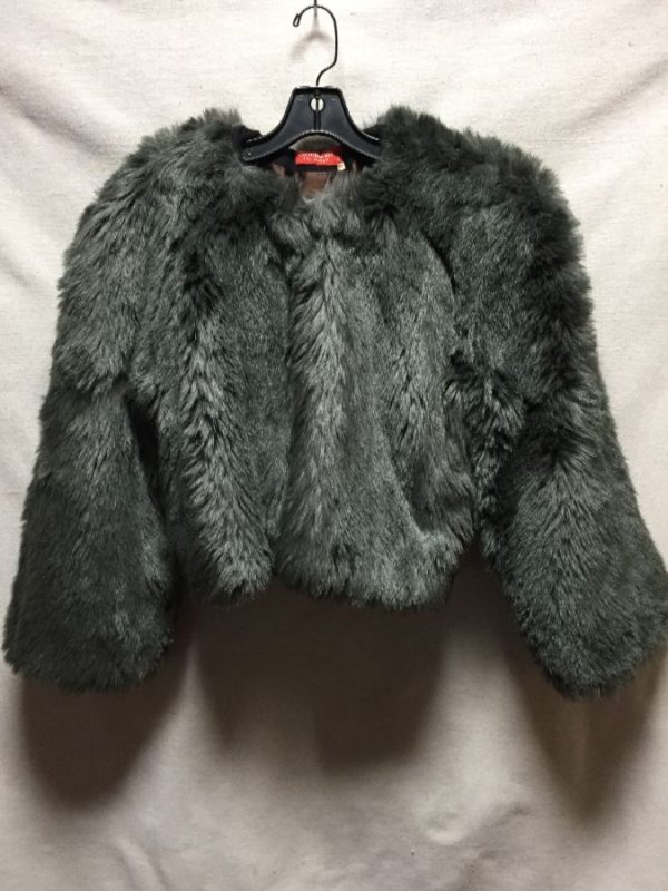 product details: CROPPED FAUX FUR JACKET SATIN LINED MADE IN FRANCE photo