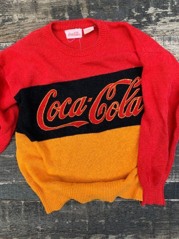 product details: 1990S KNIT COCA COLA SWEATER photo