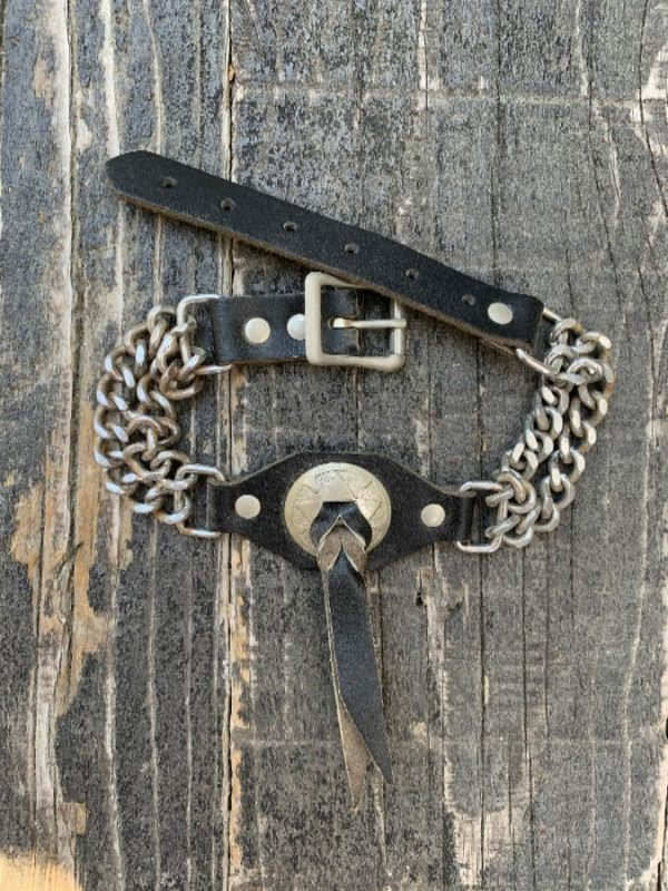 product details: RAD LEATHER & CONCHO BOOT CHAIN *SINGLE photo