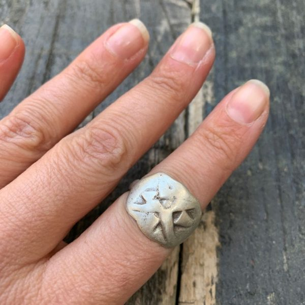 product details: STERLING SILVER RING FUNKY HANDMADE DESIGN photo